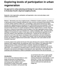 urban regeneration assessment essay Ts07g - planning, environment and water management, 602 frank friesecke, sophie schetke and theo kötter urban planning for climate change – position paper of fig working group 81.